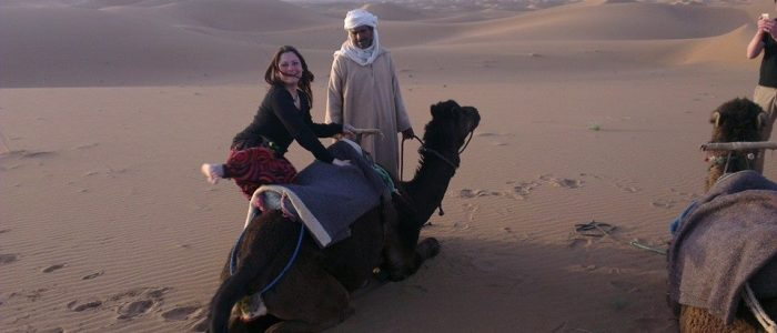 Motorradreisen Marokko Erg Chegaga Kamelritt