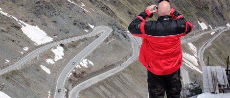 Motorradreisen Südtirol Stilfser Joch Blick vom Hotel Tibet