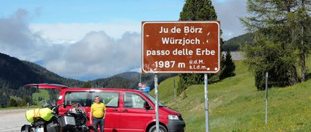 Motorradreisen Südtirol Würzjoch