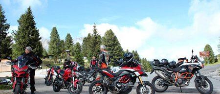 Motorradreisen Südtirol Würzjoch Pause