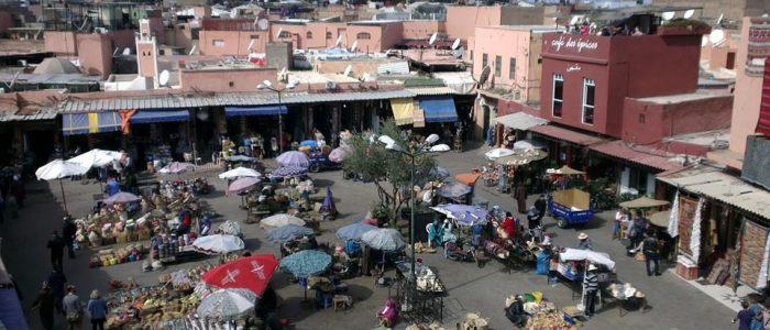 Motorradreisen Marokko Marrakesch Souks